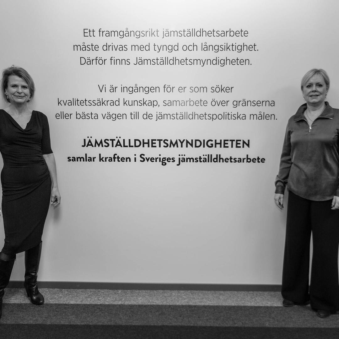 Jämställdhetsmyndigheten Lena Ag och Åsa Regnér