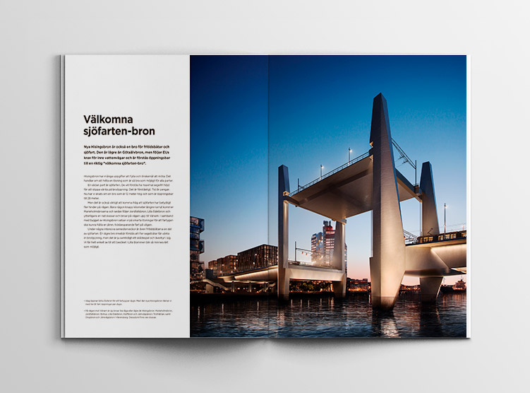 Hisingsbron Folder Välkomna sjöfarten-bron