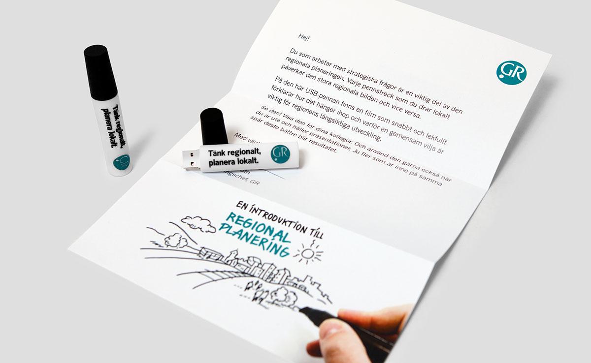 Göteborgsregionen regional planering brev och usb-penna