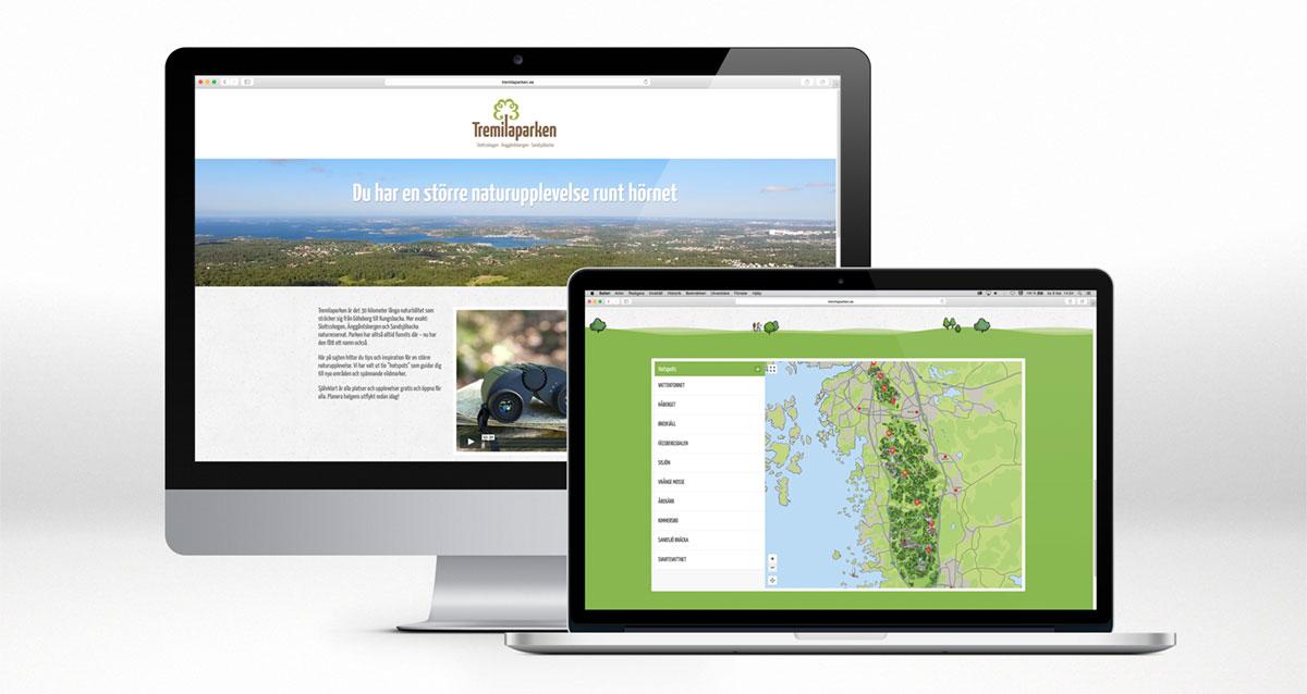 Tremilaparken webbplats