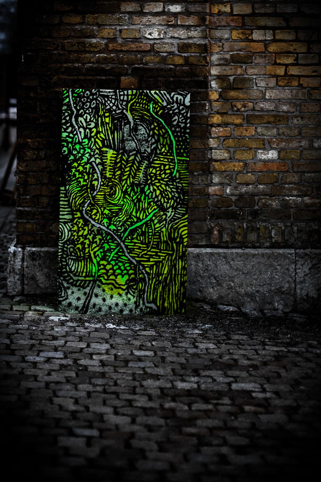 Konstverk i Rosenlund av Jonathan 'Ollio' Josefsson