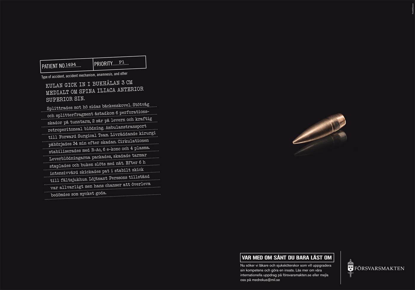 Försvarsmakten - Var med om sånt du bara läst om - Kula
