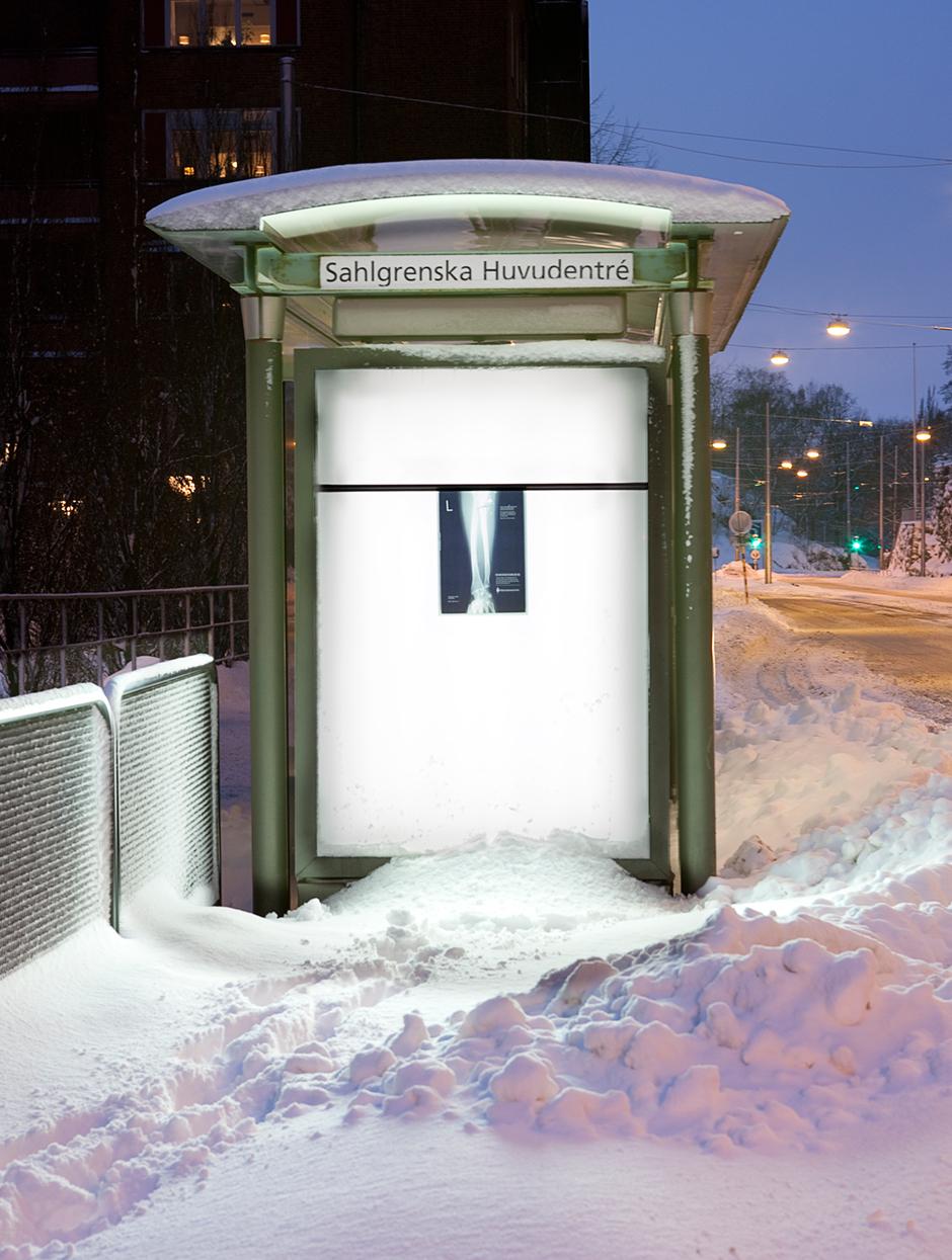 Försvarsmakten röntgenbild reklam utomhus