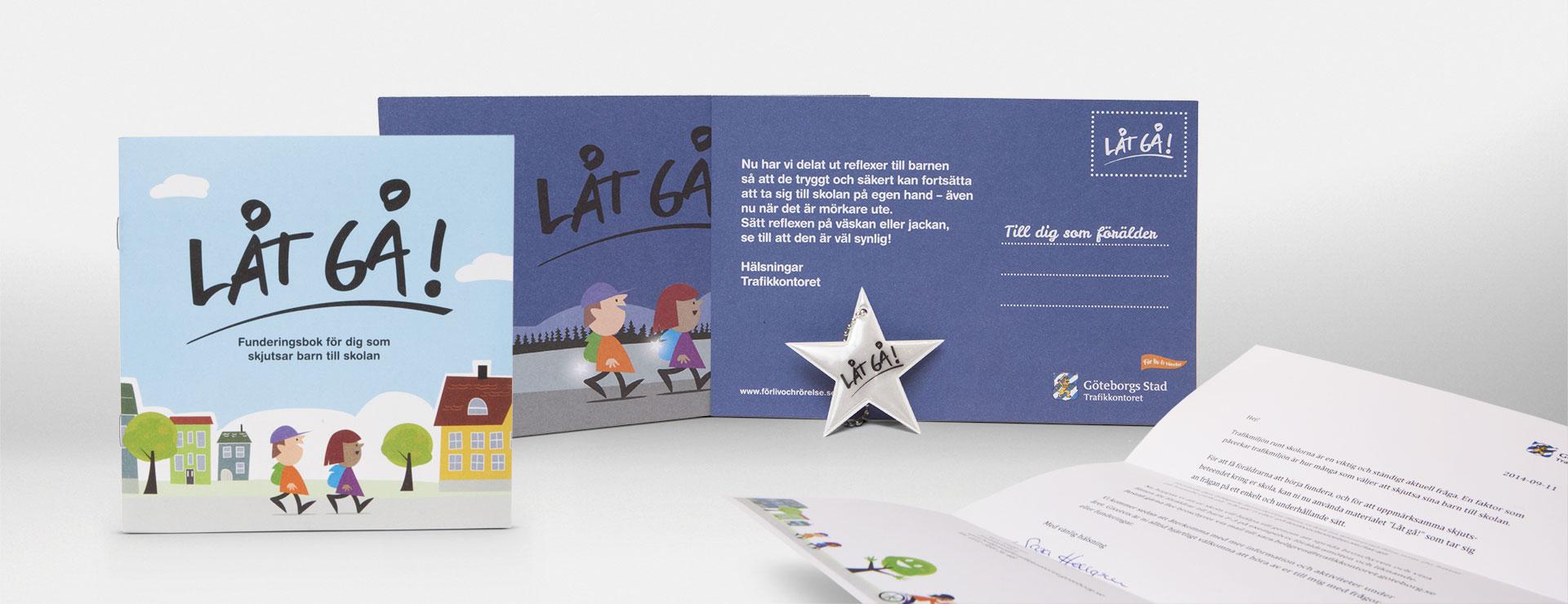 Göteborgs Stad - Låt Gå! - folder, vykort, brev