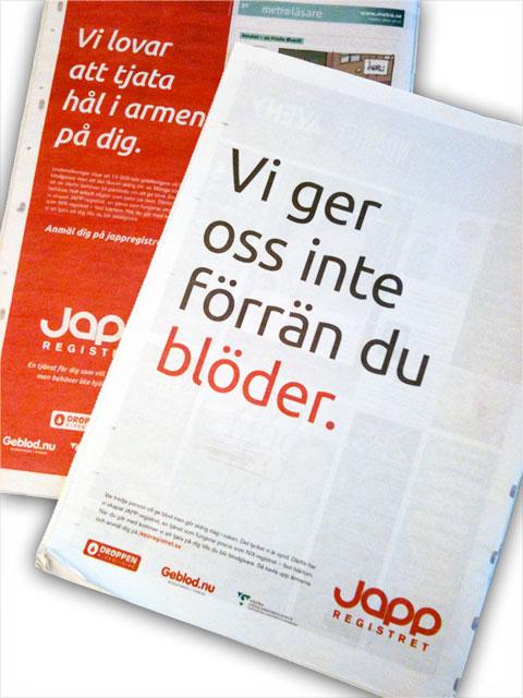 JAPP-registret annons blöder