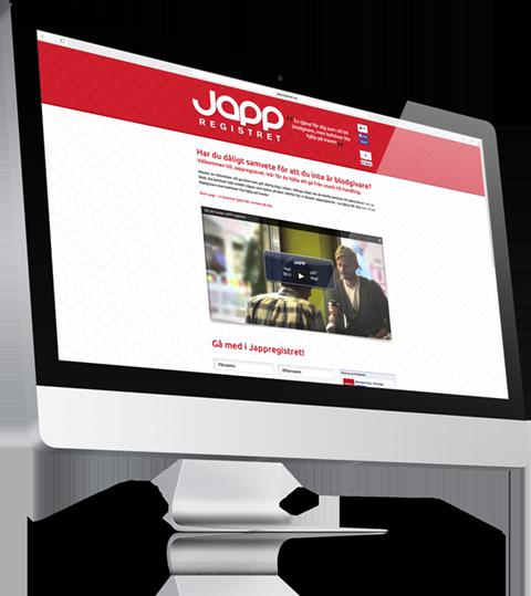 JAPP-registret webb