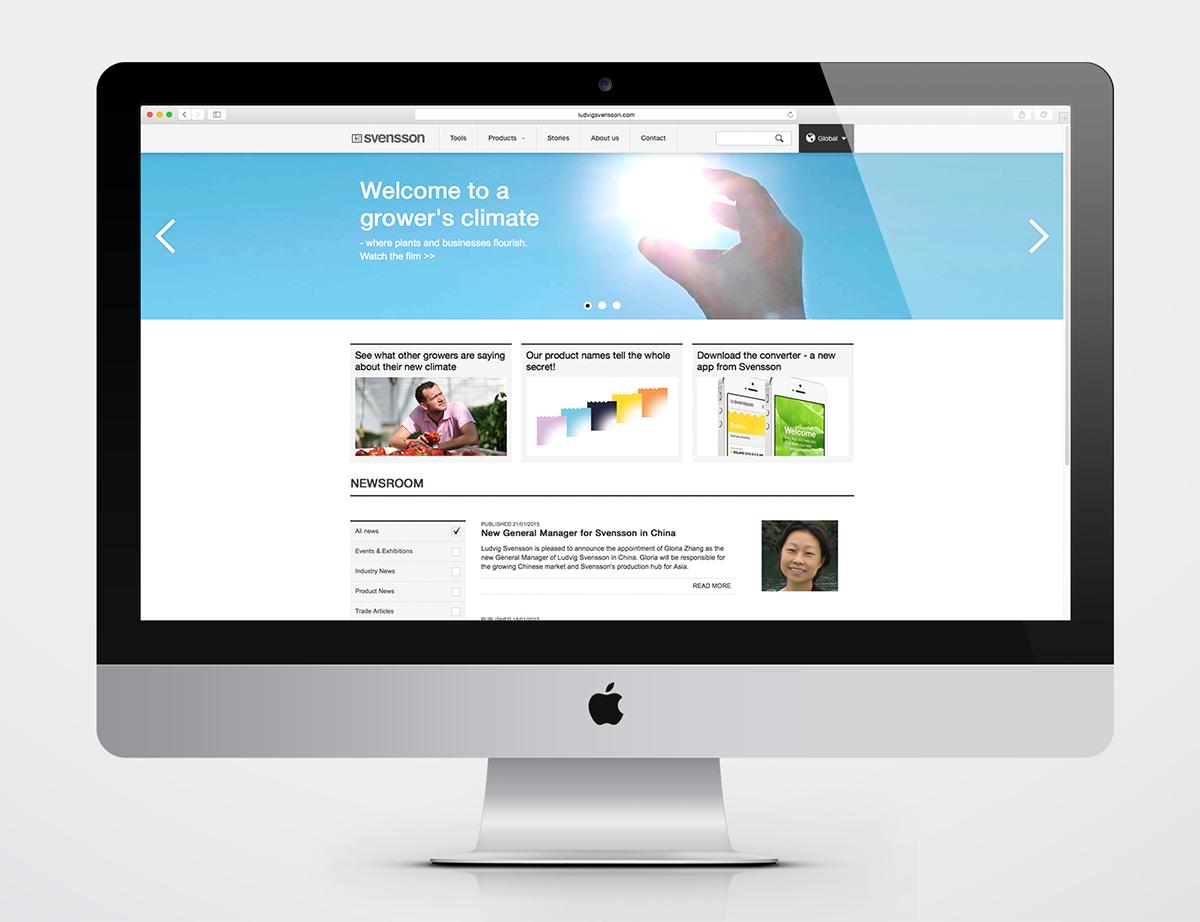 Svensson webbplats