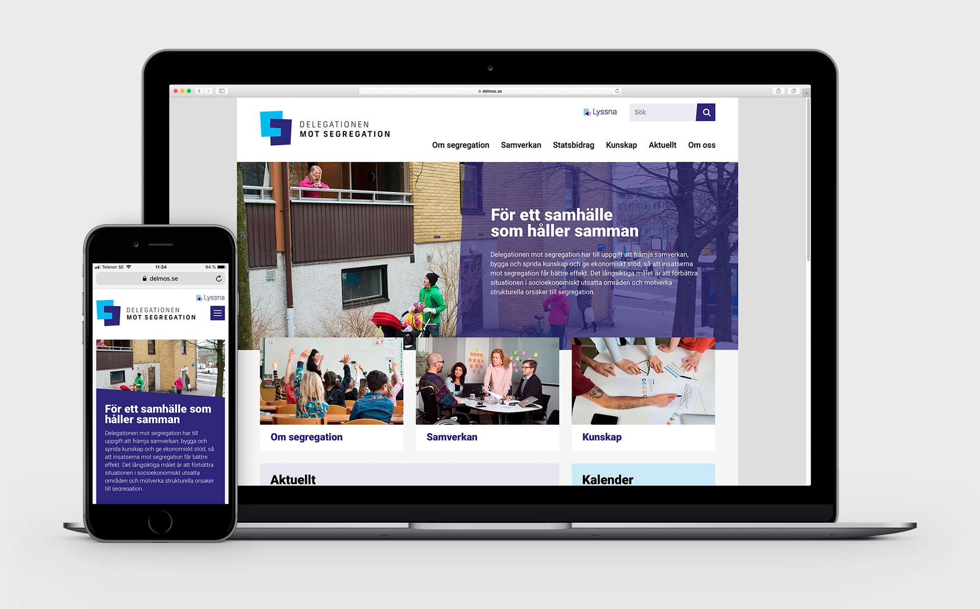 Delegationen mot segregation - webbplats